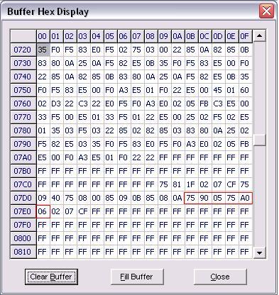 File .hex hasil compilan menggunakan Reads51 bahasa C