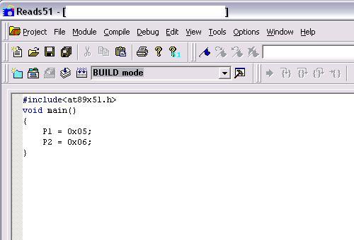 Program menggunakan compiler SDCC